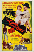 "Movie Posters:Comedy, A Lady Takes a Chance (Phoenix, R-1954). One Sheet (27"" X 41""). Comedy. Reissue Title: The Cowboy and the Girl.. ..."