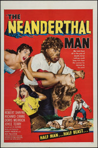 "The Neanderthal Man (United Artists, 1953). One Sheet (27"" X 41""). Horror"