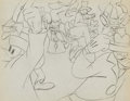 Animation Art:Production Drawing, Goofy Animation Drawing (Walt Disney, c. 1940s)....