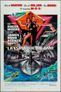 "Movie Posters:James Bond, The Spy Who Loved Me (United Artists, 1977). Spanish Language OneSheet (27"" X 41"") Style B & German A1 (23.25"" X 33""). Jame...(Total: 2 Items)"