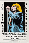"""Movie Posters:Rock and Roll, Rod Stewart at the Tulsa Convention Center (Little Wing, 1989).Concert Poster (15.5"""" X 22.75""""). Rock and Roll.. ..."""