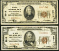 National Bank Notes:Pennsylvania, Johnstown, PA - $20 1929 Ty. 1 and $50 1929 Ty. 1 The United StatesNB Ch. # 5913. ... (Total: 2 notes)