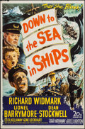"Movie Posters:Adventure, Down to the Sea in Ships & Other Lot (20th Century Fox, 1949).One Sheets (2) (27"" X 41""). Adventure.. ... (Total: 2 Items)"