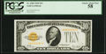 Small Size:Gold Certificates, Fr. 2400 $10 1928 Gold Certificate. PCGS Choice About New 58.. ...