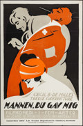 """Movie Posters:Comedy, Don't Change Your Husband (Artcraft, 1920). Swedish Linocut One Sheet (23.5"""" X 35.5""""). Comedy.. ..."""