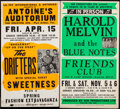Movie Posters:Rock and Roll, The Drifters with Sweetness at Antoine's Auditorium & Other Lot (La Fay International, 1970s). Locally Produced Concert Wind... (Total: 2 Items)