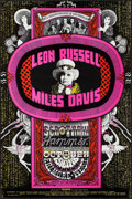 """Movie Posters:Rock and Roll, Leon Russell, Miles Davis, Seatrain, and Hammer at the FillmoreWest (Bill Graham, 1970). Concert Poster No. 252 (14"""" X 21.2..."""