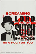 "Movie Posters:Rock and Roll, Screaming Lord Sutch and the Savages ""I'm a Hog for You"" (King'sAgency, 1963). Album Poster (20"" X 30""). Rock and Roll.. ..."