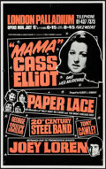 "Movie Posters:Rock and Roll, ""Mama"" Cass Elliot at the London Palladium (Louis Benjamin &Leslie Grade, 1974). Concert Poster (12.5"" X 20""). Rock and Rol..."