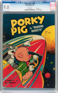 Golden Age (1938-1955):Cartoon Character, Four Color #322 Porky Pig (Dell, 1951) CGC VF/NM 9.0 Whitepages....