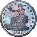 Proof Trade Dollars, 1881 T$1 PR65 NGC....