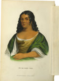 "Antiques:Posters & Prints, ""Po-Ca-Hon-Tas"" Fine Indian Portrait Printed and Colored by J. T.Bowen,..."
