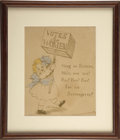 Political:Posters & Broadsides (1896-present), Original Art Suffrage Piece....
