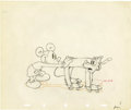 "animation art:Production Cel, ""Society Dog Show"" Animation Production Drawing Original Art(Disney, 1939)...."