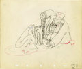 "animation art:Production Cel, ""Society Dog Show"" Animation Production Drawing Original Art(Disney, 1939). ..."
