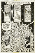 Original Comic Art:Panel Pages, Bernie Wrightson - Swamp Thing #8, page 17 Original Art (DC, 1974)....
