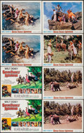 """Movie Posters:Adventure, Swiss Family Robinson & Others Lot (Buena Vista, R-1968). TitleLobby Cards (3), Lobby Cards (22) (11"""" X 14"""") & Uncut Sheet ...(Total: 29 Items)"""