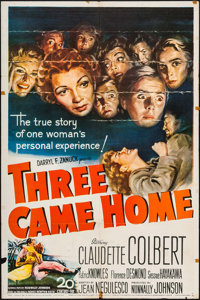 "Three Came Home (20th Century Fox, 1949). One Sheets (2) Identical (27"" X 41""). War. ... (Total: 2 Items)"