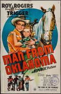 """Movie Posters:Western, Man from Oklahoma & Other Lot (Republic, 1945). One Sheets (2) (27"""" X 41""""). Western.. ... (Total: 2 Items)"""