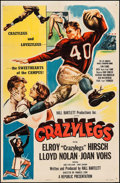 """Movie Posters:Sports, Crazylegs (Republic, 1953). Trimmed One Sheet (26.25"""" X 40.5"""") Style A. Sports.. ..."""