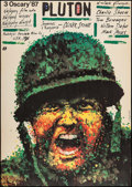 "Movie Posters:Academy Award Winners, Platoon (Polfilm, 1988). Polish One Sheet (26.25"" X 37""). Academy Award Winners.. ..."