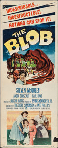 """Movie Posters:Science Fiction, The Blob (Paramount, 1958). Insert (14"""" X 36""""). Science Fiction....."""