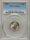 Roosevelt Dimes, 1952 10C MS66+ PCGS. PCGS Population (705/50 and 8/2+). NGC Census: (496/185 and 1/0+). Mintage: 99,000,000. Numismedia Wsl...