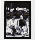 Football Collectibles:Photos, Lombardi Legends Multi-Signed Canvas Display....