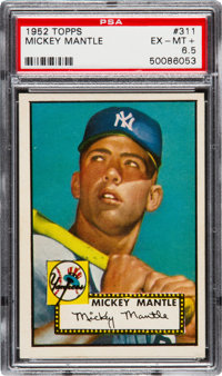 1952 Topps Mickey Mantle #311 PSA EX-MT+ 6.5