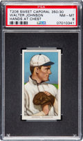 Baseball Cards:Singles (Pre-1930), 1909-11 T206 Sweet Caporal Walter Johnson Hands at Chest PSA NM-MT8....