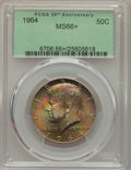 Kennedy Half Dollars, 1964 50C MS66+ PCGS. PCGS Population (1306/48 and 42/2+). NGCCensus: (842/44 and 2/1+). Mintage: 273,300,000. Numismedia W...