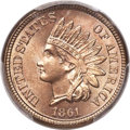 Indian Cents, 1861 1C MS66+ PCGS. CAC....