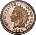 Proof Indian Cents, 1864 1C Bronze No L PR65 Red and Brown PCGS....