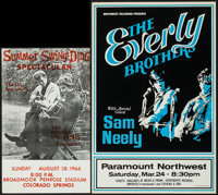 The Everly Brothers with Sam Neely at Paramount Northwest & Other Lot (Northwest Releasing, 1970s). Concert Post...