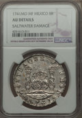 Mexico, Mexico: Philip V 8 Reales 1741 Mo-MF AU Details (Saltwater Damage)NGC,...