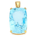 Estate Jewelry:Pendants and Lockets, Blue Topaz, Gold Pendant. ...