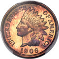 Proof Indian Cents, 1906 1C PR67 Red and Brown PCGS. CAC....