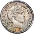 Barber Dimes, 1905-S 10C MS66+ PCGS. CAC....