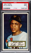 Baseball Cards:Singles (1950-1959), 1952 Topps Willie Mays #261 PSA Mint 9....
