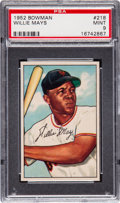 Baseball Cards:Singles (1950-1959), 1952 Bowman Willie Mays #218 PSA Mint 9....
