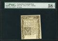 Colonial Notes:Connecticut, Connecticut June 7, 1776 1s PMG Choice About Unc 58 EPQ.. ...