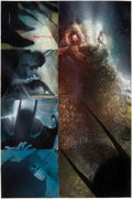 Original Comic Art:Panel Pages, Dave McKean Arkham Asylum Page 84 Batman and Killer Croc Original Art (DC, 1989)....