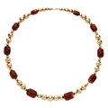 Estate Jewelry:Necklaces, Amber, Gold Necklace. ...
