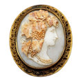 Estate Jewelry:Brooches - Pins, Victorian Shell Cameo, Base Metal Brooch. ...