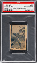 Baseball Cards:Singles (Pre-1930), 1926 W511 Babe Ruth (Blue) #71 PSA Authentic....