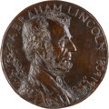Antiques:Decorative Americana, Abraham Lincoln: Bronze Roundel Plaque by Edith WoodmanBurroughs....