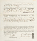 Autographs:Celebrities, [Abraham Lincoln]: Document Signed by Associates Edward Baker andJames Matheny....