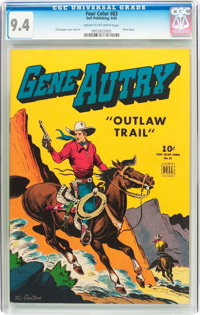 Four Color #83 Gene Autry (Dell, 1945) CGC NM 9.4 Cream to off-white pages