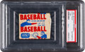 Baseball Cards:Unopened Packs/Display Boxes, 1950 Bowman Baseball 1-Cent Unopened Wax Pack PSA Authentic. ...