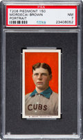 Baseball Cards:Singles (Pre-1930), 1909-11 T206 Piedmont 150 Mordecai Brown (Cubs Shirt) PSA NM 7....